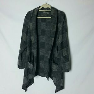 Chicos size 3 open front long cardigan/jacket
